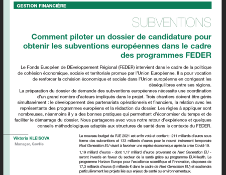 Pilotage candidature subventions FEDER_FH.09.21